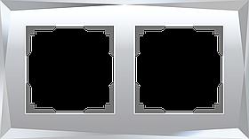 Рамка на 2 поста /WL08-Frame-02 (зеркальный)