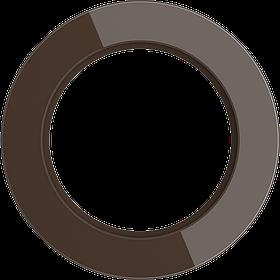 Рамка на 1 пост /WL21-Frame-01 (коричневый)