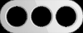 Рамка на 3 поста /WL21-Frame-03 (белый)