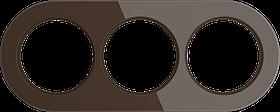 Рамка на 3 поста /WL21-Frame-03 (коричневый)