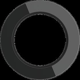 Рамка на 1 пост /WL21-Frame-01 (черный)