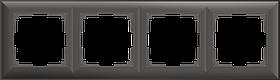 Рамка на 4 поста /WL14-Frame-04 (серо-коричневый)
