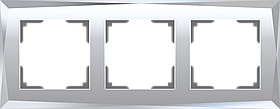 Рамка на 3 поста /WL08-Frame-03 (зеркальный)