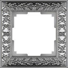 Рамка на 1 пост /WL07-Frame-01 (матовый хром)