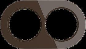 Рамка на 2 поста /WL21-Frame-02 (коричневый)