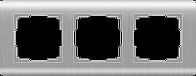 Рамка на 3 поста /WL12-Frame-03 (серебряный)