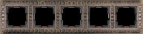 Рамка на 5 постов /WL07-Frame-05 (бронза)