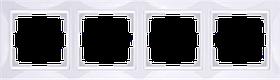 Рамка на 4 поста /WL03-Frame-04 (белый)