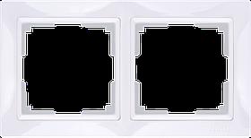 Рамка на 2 поста /WL03-Frame-02 (белый)