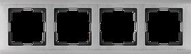 Рамка на 4 поста /WL02-Frame-04 (глянцевый никель)