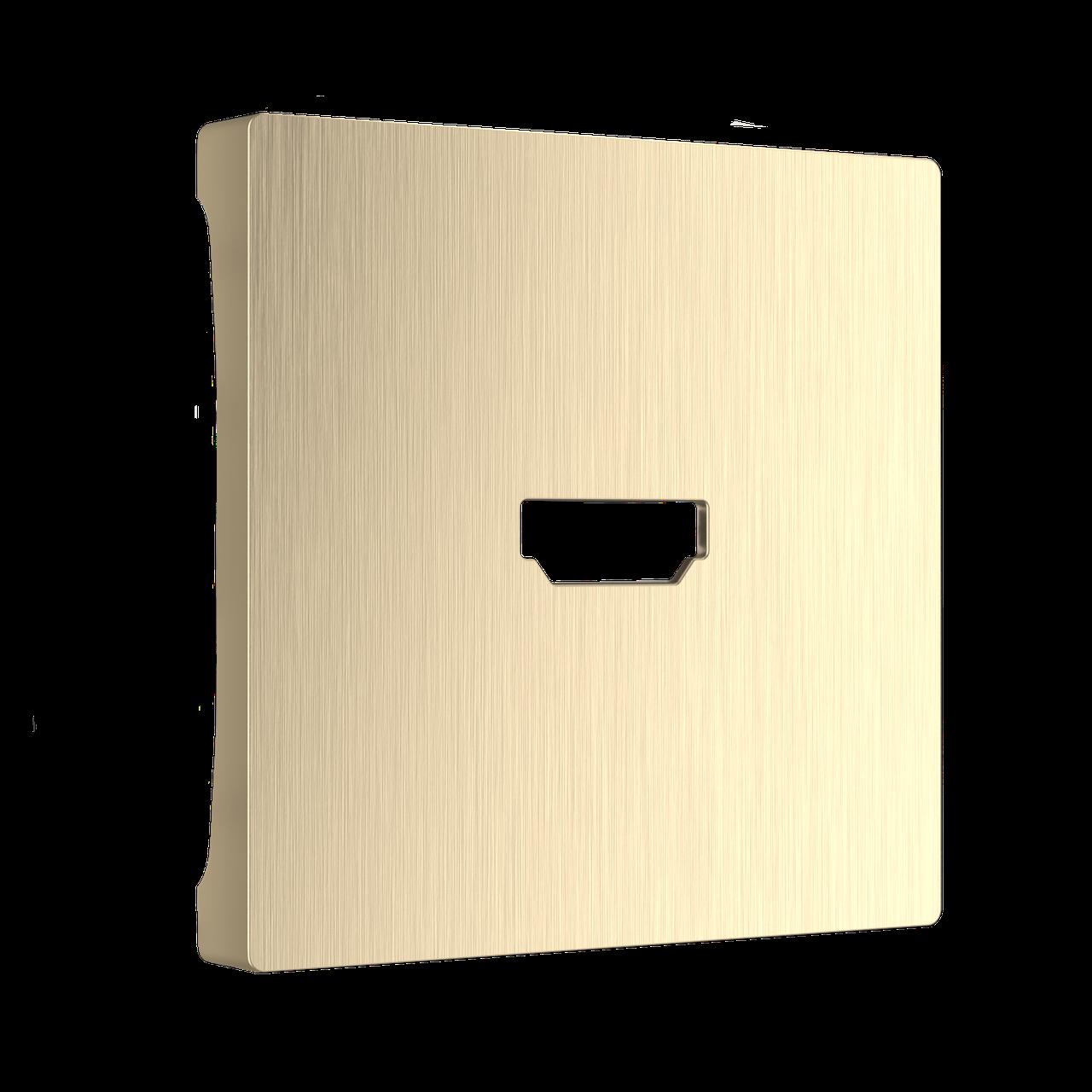 Накладка для розетки HDMI /WL10-HDMI-CP (шампань рифленый)