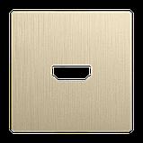 Накладка для розетки HDMI /WL10-HDMI-CP (шампань рифленый), фото 2