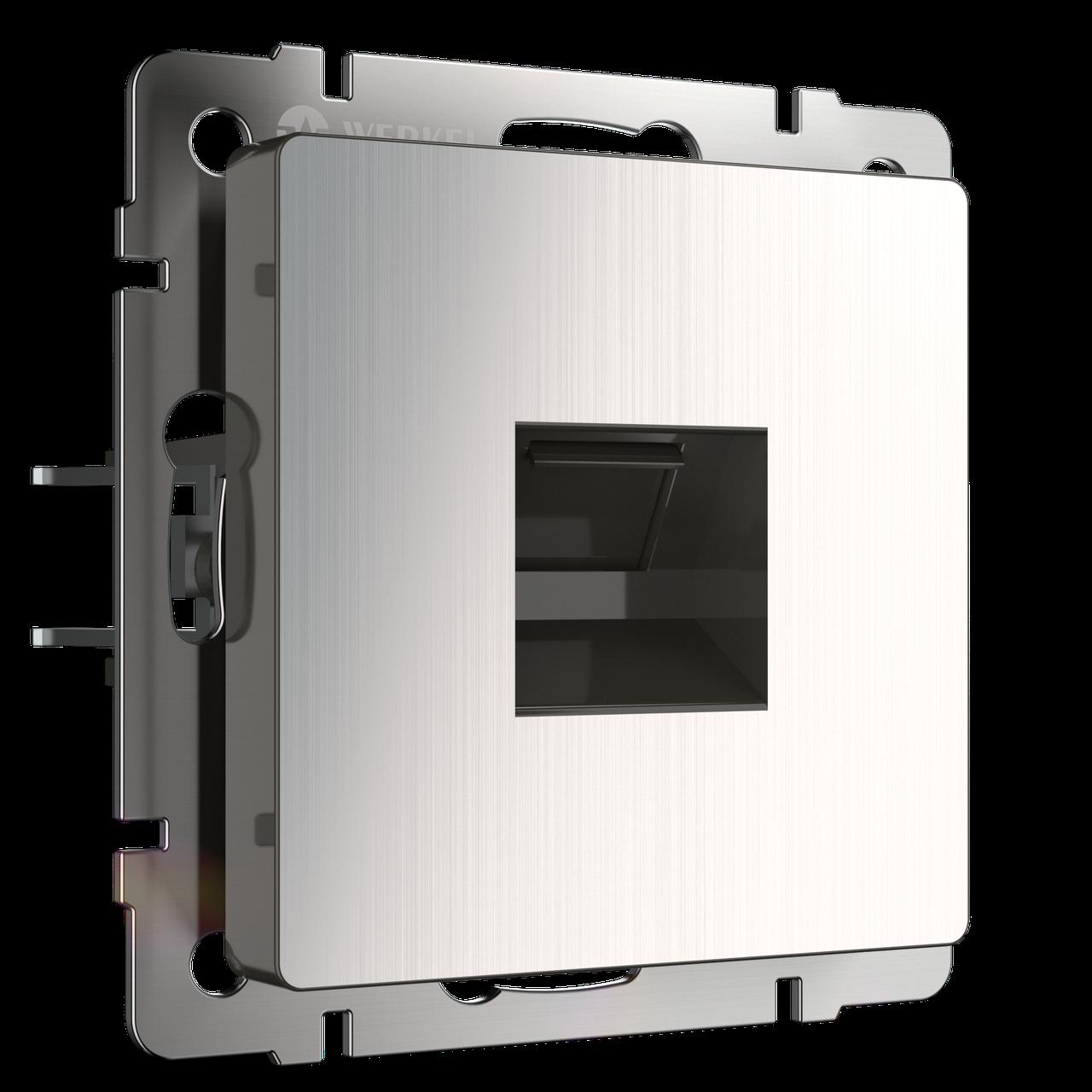 Розетка Ethernet RJ-45 /WL02-RJ-45 (глянцевый никель)