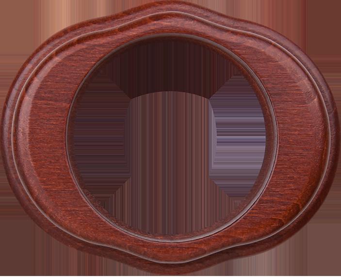 Рамка на 1 пост /WL20-Frame-01 (итальянский орех)