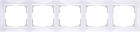 Рамка на 5 постов /WL03-Frame-05 (белый)
