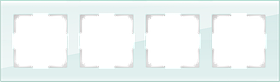 Рамка на 4 поста /WL01-Frame-04 (натуральное стекло)