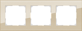 Рамка на 3 поста /WL01-Frame-03 (шампань)