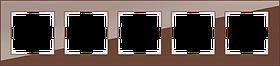 Рамка на 5 постов /WL01-Frame-05 (мокко)