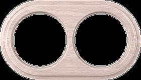 Рамка на 2 поста /WL15-Frame-02 (беленый дуб)