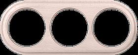Рамка на 3 поста /WL15-Frame-03 (беленый дуб)
