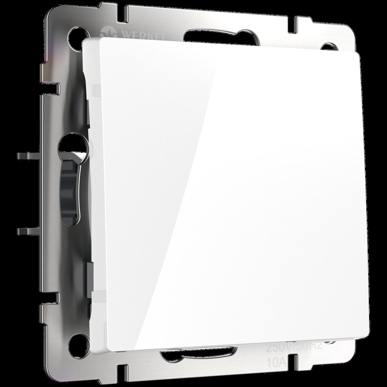Перекрестный переключатель одноклавишный /WL01-SW-1G-C (белый)