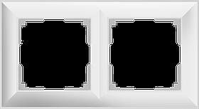 Рамка на 2 поста /WL14-Frame-02 (белый)