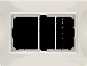 Рамка для двойной розетки /WL03-Frame-01-DBL-ivory (слоновая кость, basic)
