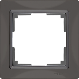 Рамка на 1 пост /WL03-Frame-01 (серо-коричневый, basic)