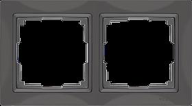 Рамка на 2 поста /WL03-Frame-02 (серо-коричневый, basic)
