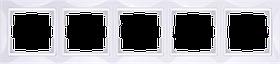 Рамка на 5 постов /WL03-Frame-05 (белый, basic)