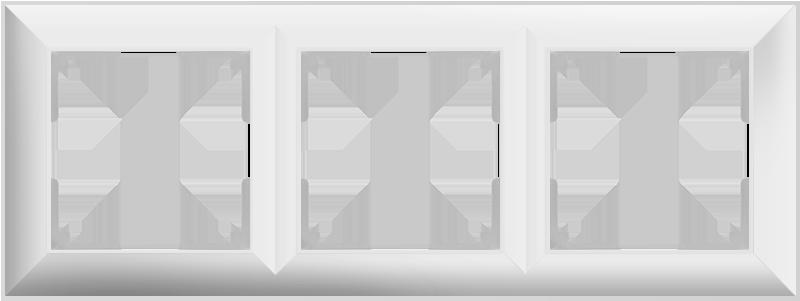Рамка на 3 поста /WL14-Frame-03 (белый)