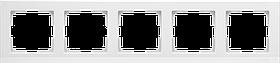 Рамка на 5 постов /WL04-Frame-05-white (белый)