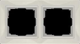 Рамка на 2 поста /WL03-Frame-02 (слоновая кость, basic)