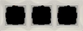 Рамка на 3 поста /WL03-Frame-03 (слоновая кость, basic)