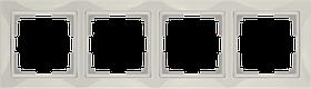 Рамка на 4 поста /WL03-Frame-04 (слоновая кость, basic)