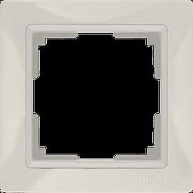 Рамка на 1 пост /WL03-Frame-01 (слоновая кость, basic)