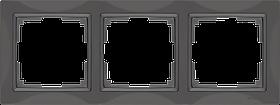 Рамка на 3 поста /WL03-Frame-03 (серо-коричневый, basic)