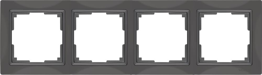 Рамка на 4 поста /WL03-Frame-04 (серо-коричневый, basic)
