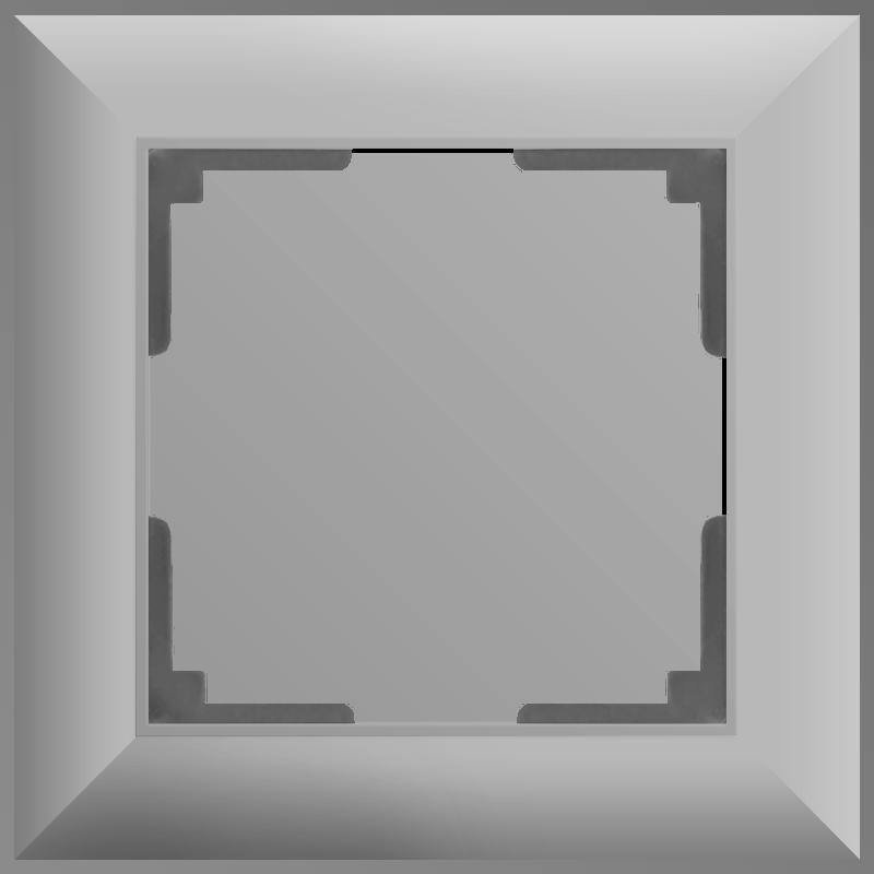 Рамка на 1 пост /WL14-Frame-01 (серебряный)