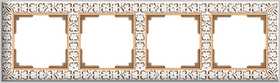 Рамка на 4 поста /WL07-Frame-04 (белое золото)