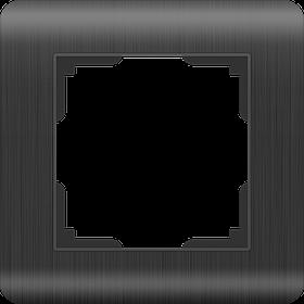 Рамка на 1 пост /WL12-Frame-01 (графит)