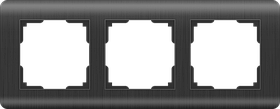 Рамка на 3 поста /WL12-Frame-03 (графит)