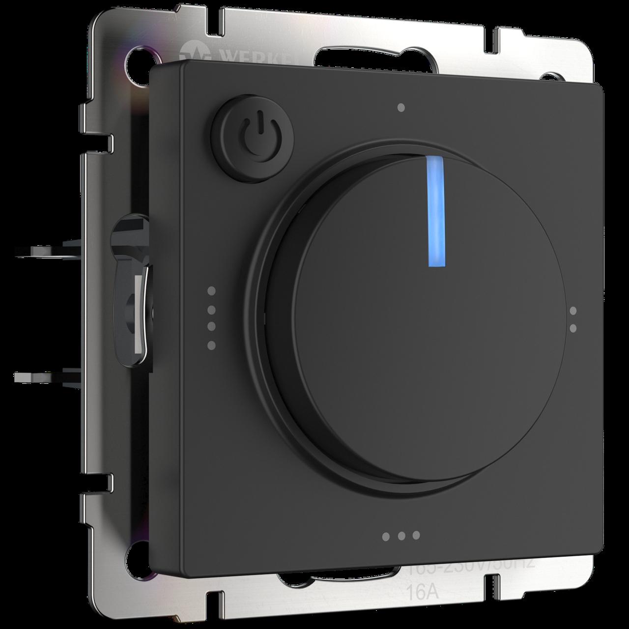 Терморегулятор электромеханический для теплого пола /WL08-40-01 (черный)