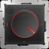 Терморегулятор электромеханический для теплого пола /WL08-40-01 (черный), фото 3