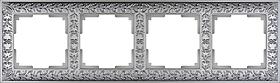Рамка на 4 поста /WL07-Frame-04 (матовый хром)