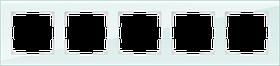 Рамка на 5 постов /WL01-Frame-05 (натуральное стекло)