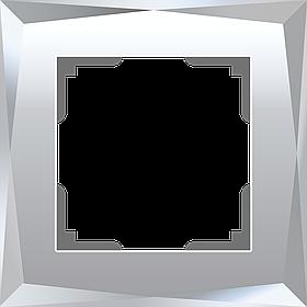 Рамка на 1 пост /WL08-Frame-01 (зеркальный)