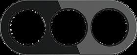 Рамка на 3 поста /WL21-Frame-03 (черный)