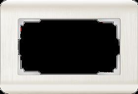 Рамка для двойной розетки /WL12-Frame-01-DBL (перламутровый)