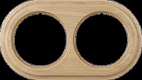 Рамка на 2 поста /WL15-Frame-02 (светлый бук)